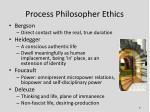 process philosopher ethics