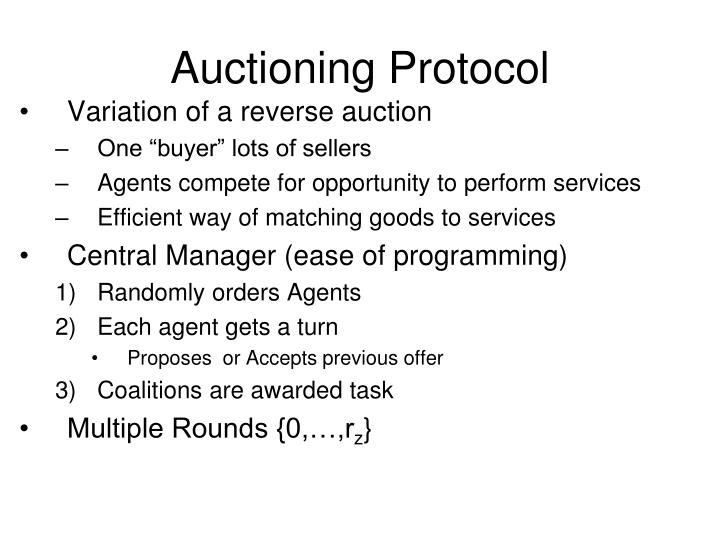 Auctioning Protocol