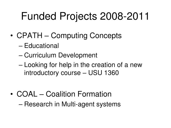 Funded Projects 2008-2011