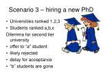scenario 3 hiring a new phd