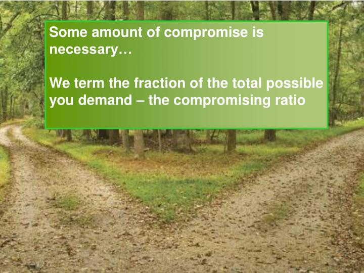 Some amount of compromise is necessary…
