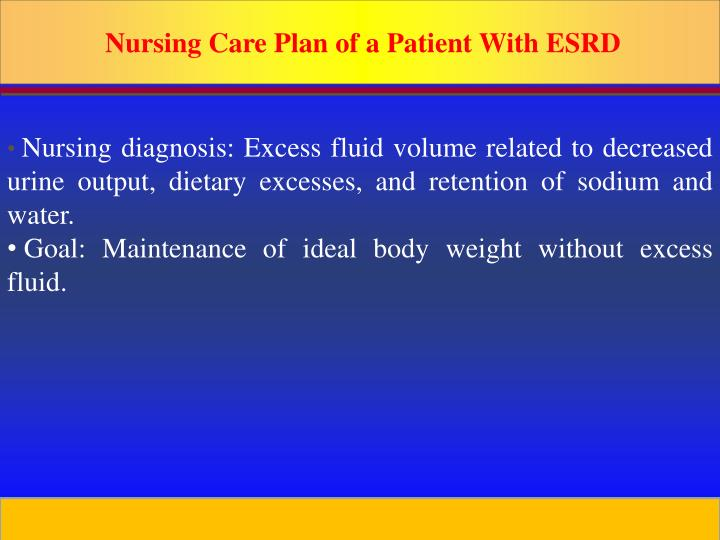 Nursing Care Plan of a Patient With ESRD