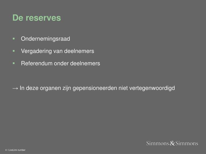 De reserves