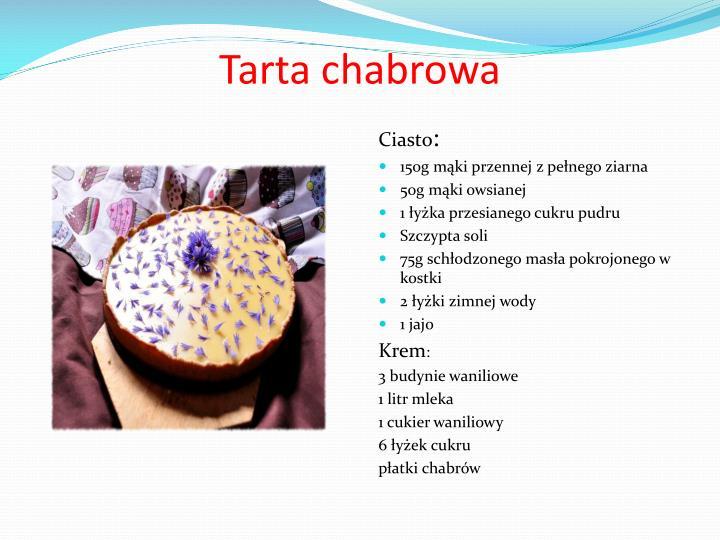 Tarta chabrowa