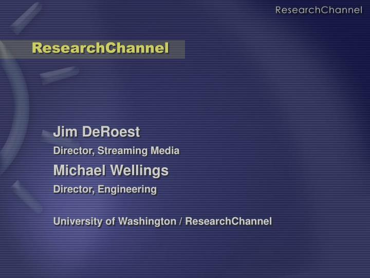 Researchchannel