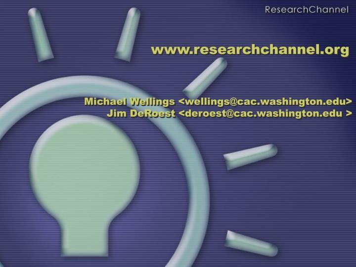 www.researchchannel.org