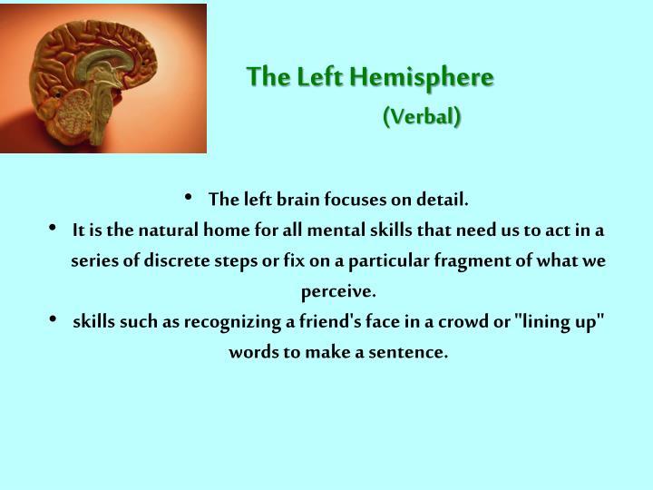 The Left Hemisphere