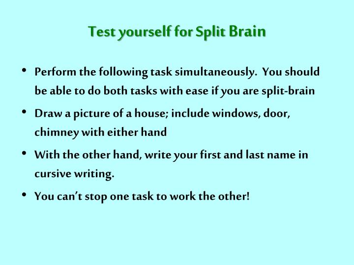 Test yourself for Split