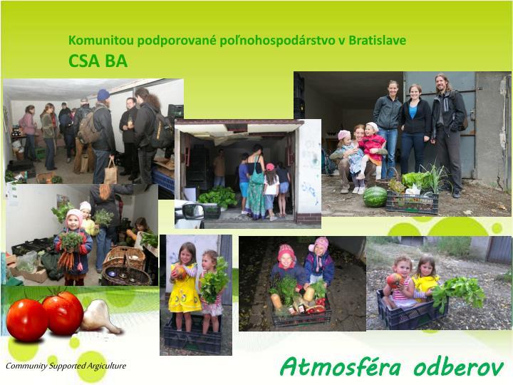 Komunitou podporované poľnohospodárstvo vBratislave