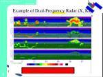 example of dual frequency radar x ka