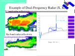 example of dual frequency radar x ka1