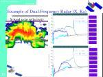 example of dual frequency radar x ka2