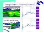 example of dual frequency radar x ka3