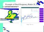 example of dual frequency radar x ka4