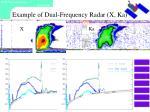example of dual frequency radar x ka5