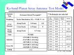 ka band planar array antenna test model