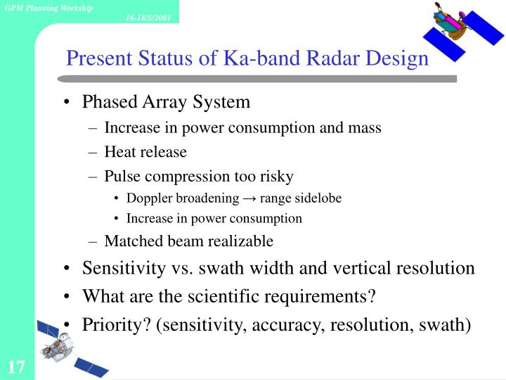 Present Status of Ka-band Radar Design