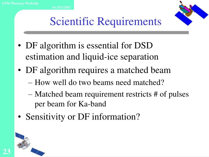 DF algorithm is essential for DSD estimation and liquid-ice separation