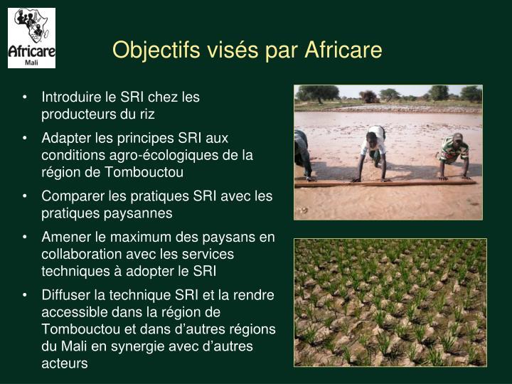 Objectifs visés par Africare