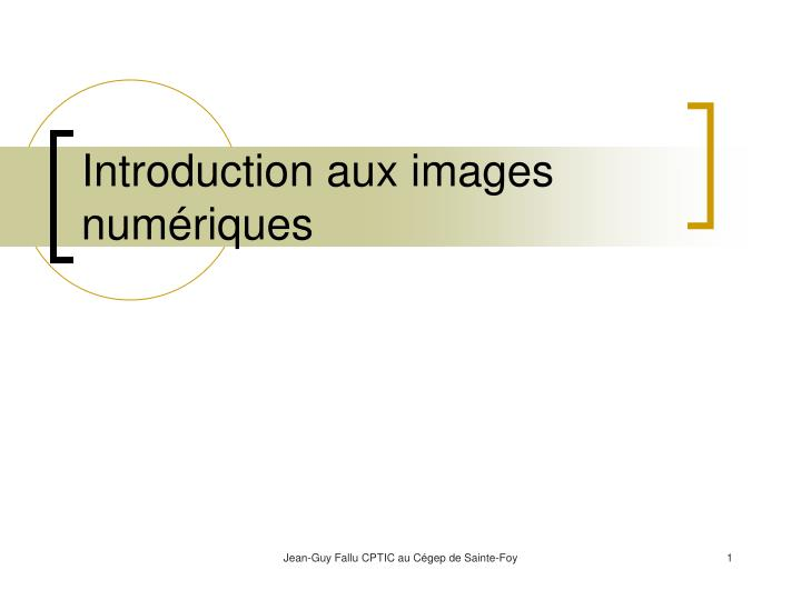 Introduction aux images num riques