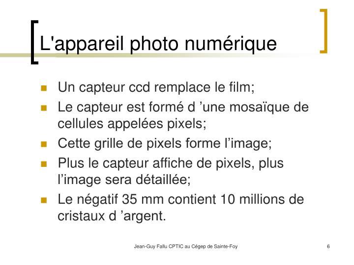 L'appareil photo numérique