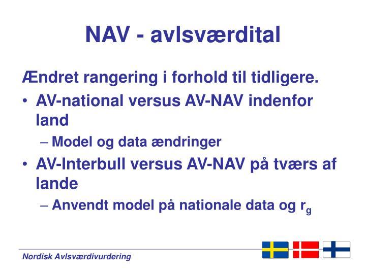 NAV - avlsværdital