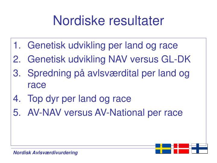 Nordiske resultater