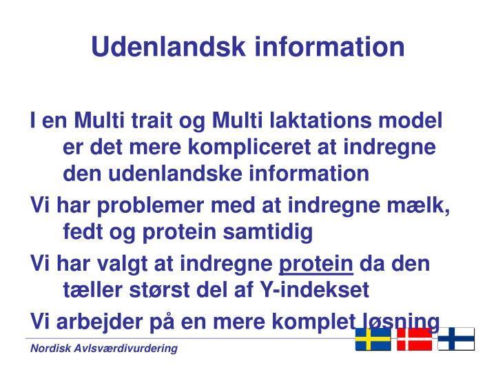 Udenlandsk information