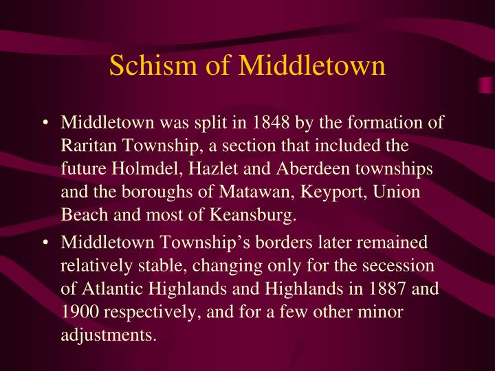 Schism of Middletown