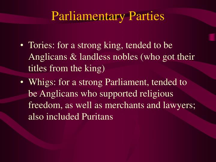 Parliamentary Parties