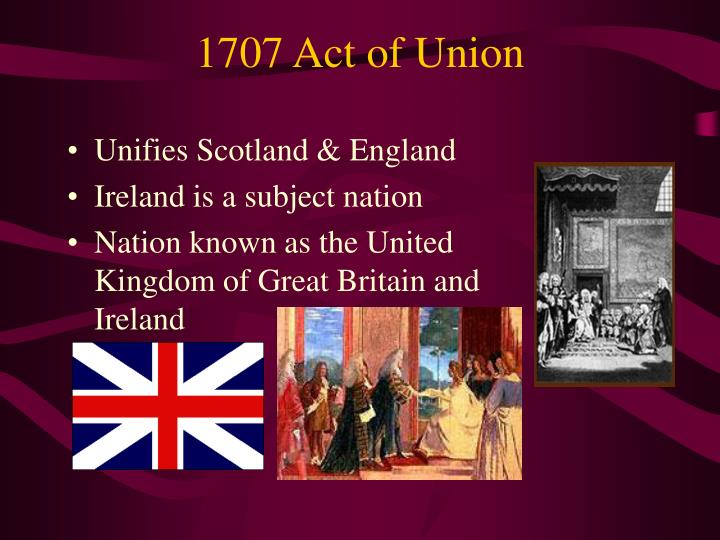 1707 Act of Union