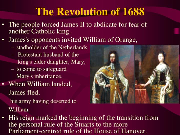 The Revolution of 1688
