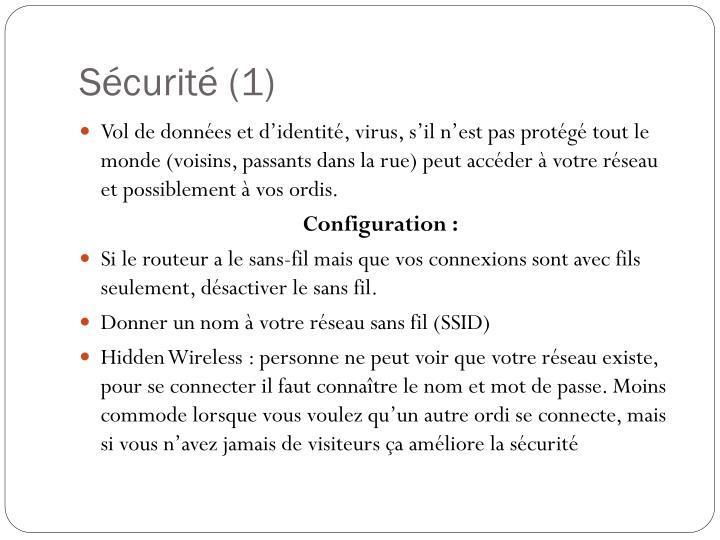 Sécurité (1)