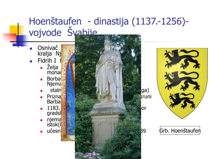 Hoenštaufen  - dinastija (1137.-1256)-vojvode  Švabije