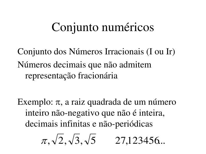 Conjunto numéricos