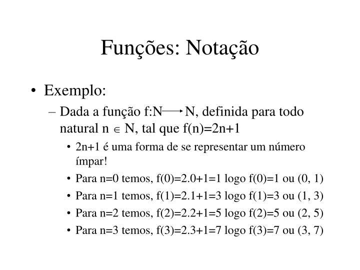 Funções: Notação