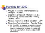 planning for 20021