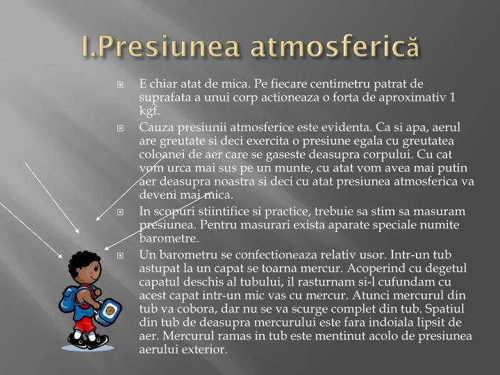 I.Presiunea atmosferică