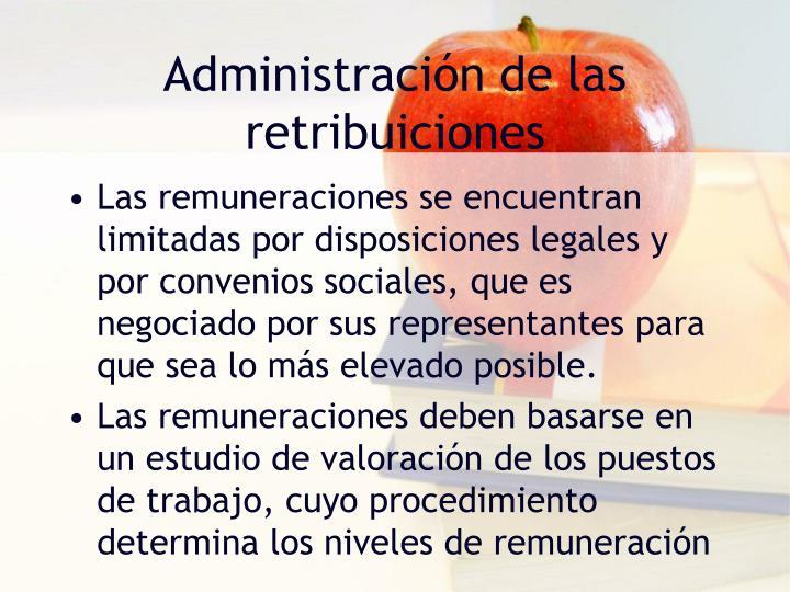 Administración de las