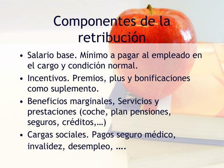 Componentes de la retribución