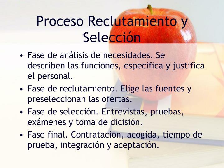 Proceso Reclutamiento y Selección