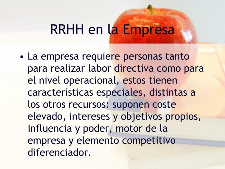 RRHH en la Empresa