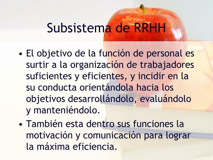 Subsistema de RRHH