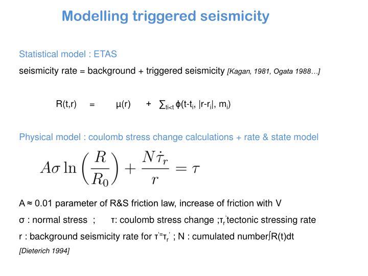 Statistical model : ETAS