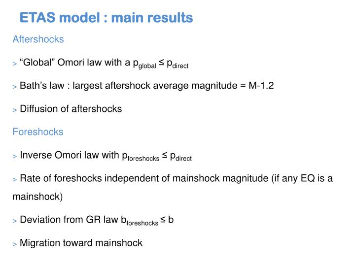 ETAS model : main