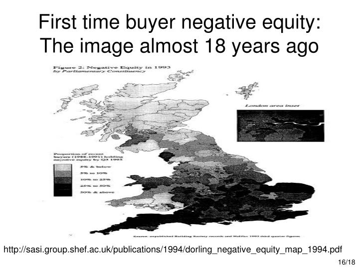 First time buyer negative equity: