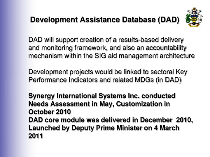 Development Assistance Database (DAD)