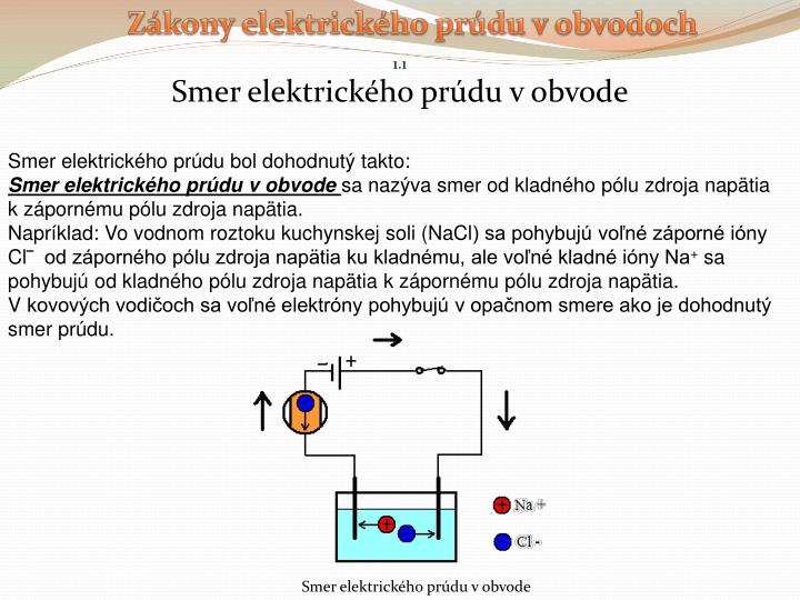 Zákony elektrického prúdu v obvodoch