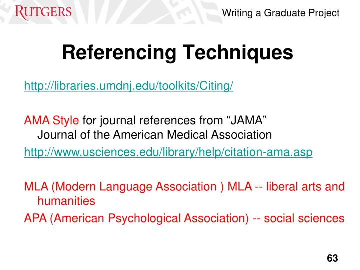 Referencing Techniques