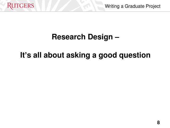 Research Design –